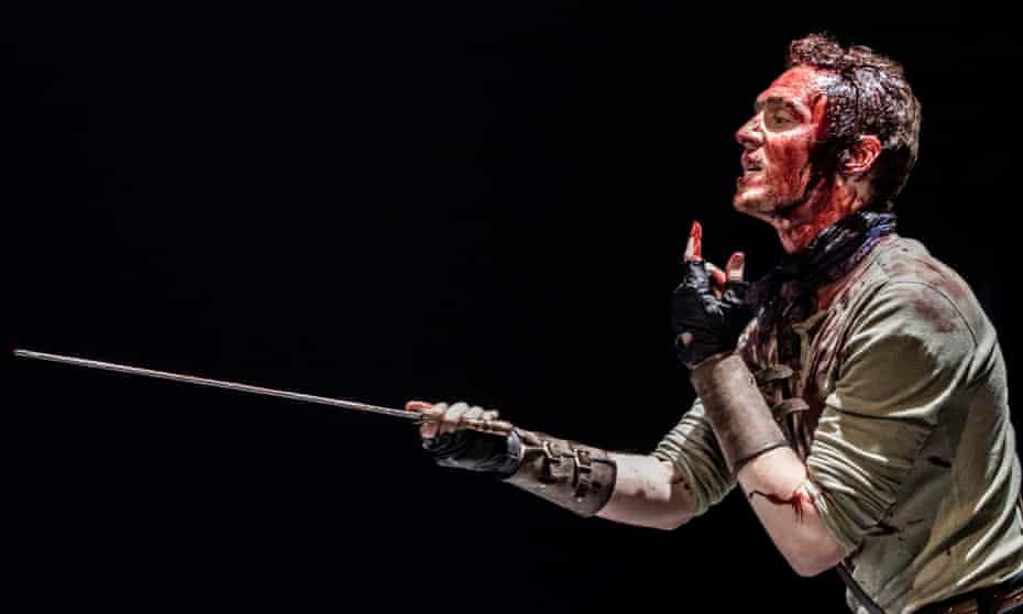 'Let me have war' … Tom Hiddleston as Coriolanus in 2013.