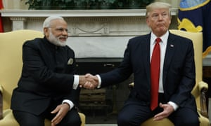 Trump and Modi at the White House.