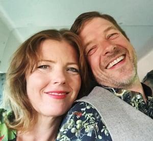 Carmen Greenway with her husband, Rufus.