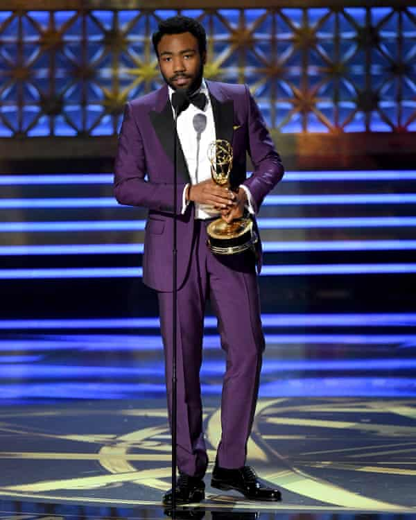 Donald Glover accepts outstanding lead actor in a comedy series for Atlanta.