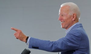 Democratic 2020 presidential candidate Joe Biden. His support of the Hyde Amendment sets him apart from the rest of his Democratic competitors.