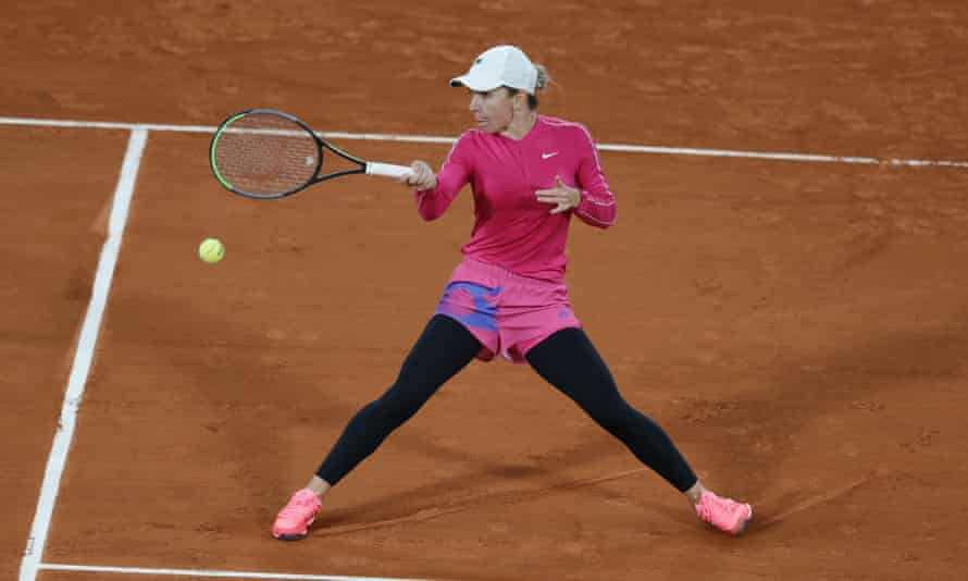 Simona Halep wearing leggings at the French Open this year