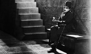 Charlie Chaplin in a scene from the film City Lights.