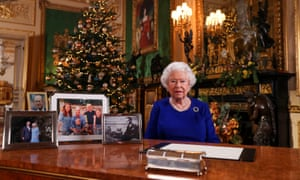 Queen Elizabeth II recording her annual Christmas broadcast last year in Windsor Castle. Traditionally, the royal family descend en masse to the Sandringham estate for a festive stay with the monarch, but the Queen will remain at Windsor