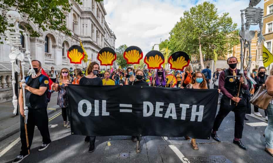 Extinction Rebellion protesters, London, 8 September 2020.