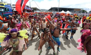 Revellers at the Trinidad carnival in Port of Spain.