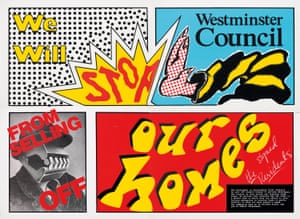 We Will Stop Westminster Council poster, 1988, John Phillips