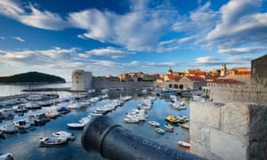Sea walls: a view of the harbour.