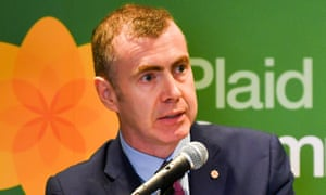 New leader of Plaid Cymru, Adam Price, speaks after winning the leadership contest election result at the Novotel, Cardiff.