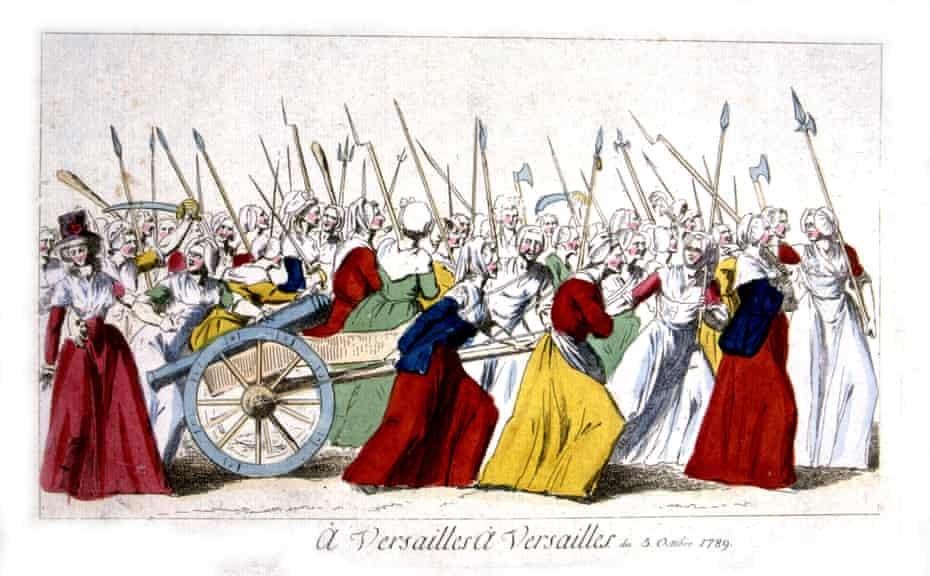 The march of insurgent women in Versailles, 5 October 1789.