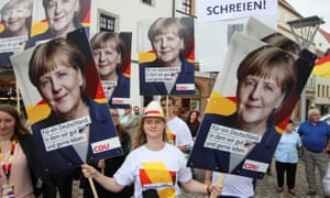 Saxony campaigners for Merkel 2017 election.