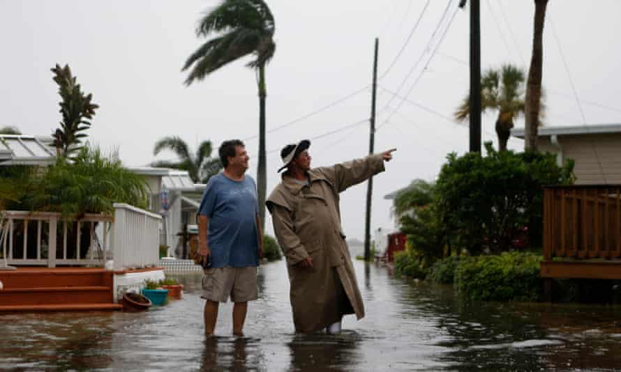 Flood water inundates a town along Florida's Gulf coast during a tropical storm. Work by LCCs helped more residents access flood-insurance discounts.