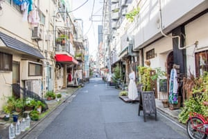 A shopping street around Koenji station, Koenji, Tokyo, Japan.