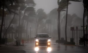 Hurricane Irma arrives in Miami Beach, Florida.