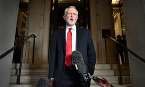 Labour Party leader Jeremy Corbyn speaking after a Labour clause V meeting on the manifesto at Savoy Place in London. Saturday November 16, 2019