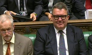 Tom Watson and Jeremy Corbyn at PMQs.