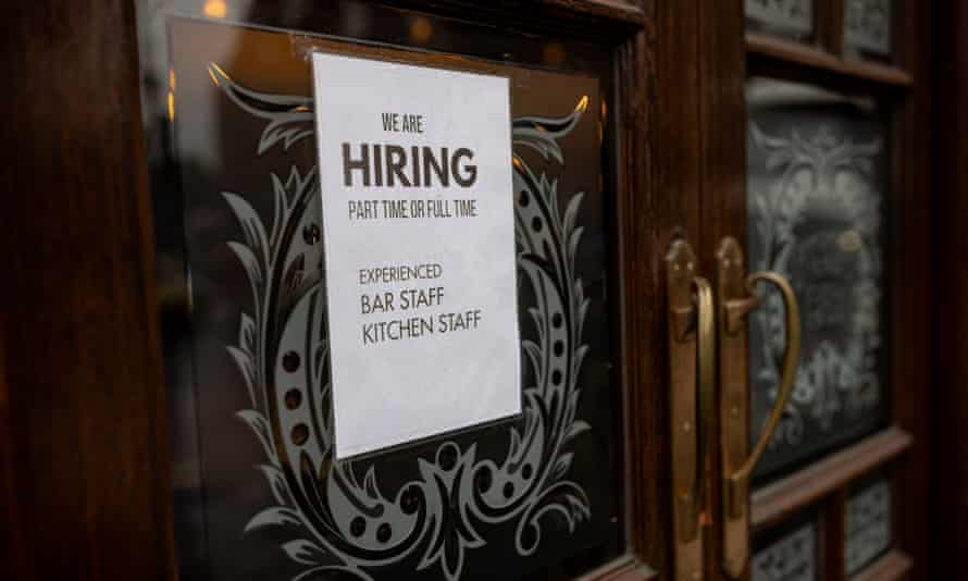 Searches for low-paid roles in hospitality were among those to record the steepest declines