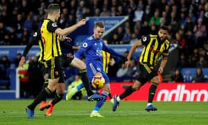 James Maddison volleys in a spectacular goal to seal Leicester's win over Burnley a week after he was sent off for diving.
