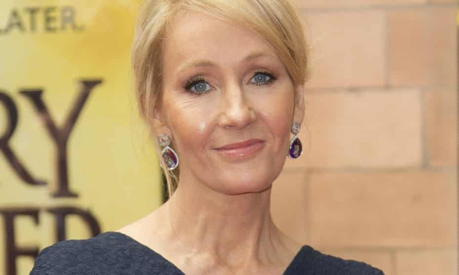 JK Rowling poses for photographers upon arrival at gala performance of Harry Potter and the Cursed Child