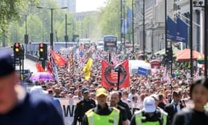 The 'Day of Freedom' rally in central London.