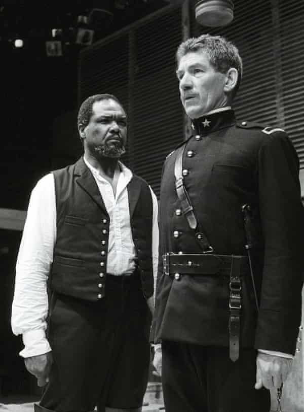Willard White as Othello with Ian McKellen as Iago for the Royal Shakespeare Company.