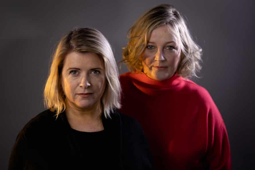 Gilly Campbell, left, with Abigail McGibbon who stars in Father the Father.