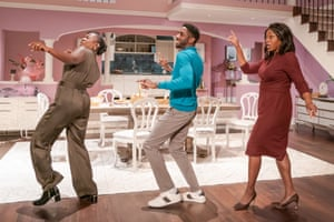 Naana Agyei-Ampadu, Rhashan Stone and Nicola Hughes in Fairview at the Young Vic.