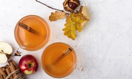 Hot cider … a twist on mulled wine.