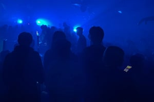 People in a club in Wuhan on 26 September