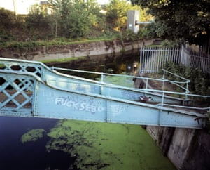This bridge daubed with graffiti was right next to the proposed site of the main Olympic stadium, Spring 2007