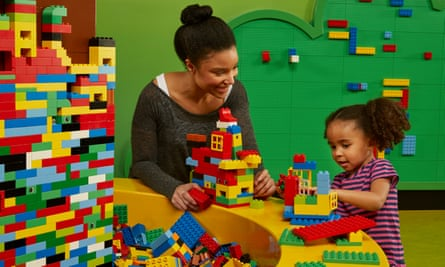 Mother and daughter playing with Lego at LEGOLAND Discovery Centre Birmingham