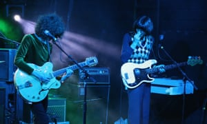 James Bagshaw and Tom Walmsley of Temples perform