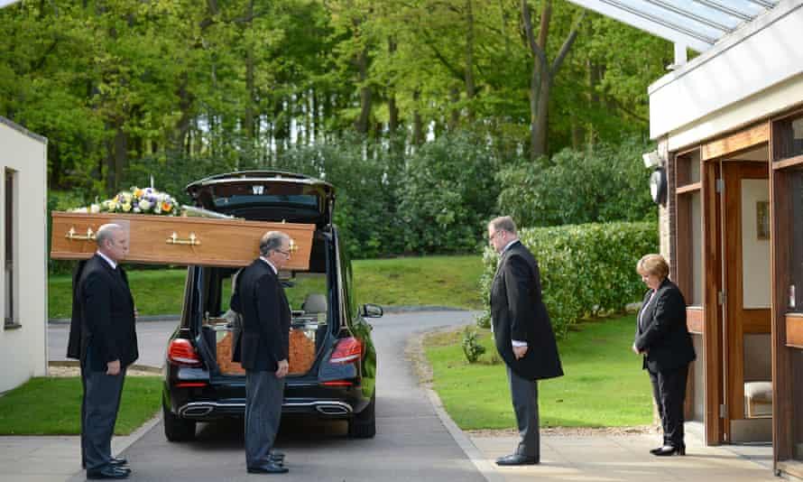 The funeral of Hamid Farahi Alamdari at Harlow Crematorium in Harlow, Essex, on May 4, 2018