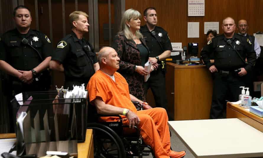 Joseph James DeAngelo, the suspected 'Golden State Killer', appears in court in Sacramento, California, in April.