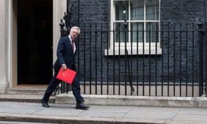 'Naturally gregarious': David Davis arrives for a cabinet meeting last week