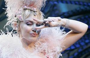 Kylie performing in Sydney in 2006.