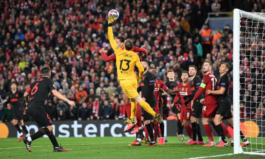 Jan Oblak helped Atlético Madrid to a famous victory at a packed Anfield, which included Spanish fans when coronavirus was beginning to spread quickly in Europe.