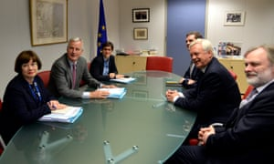 The EU and British negotiating teams