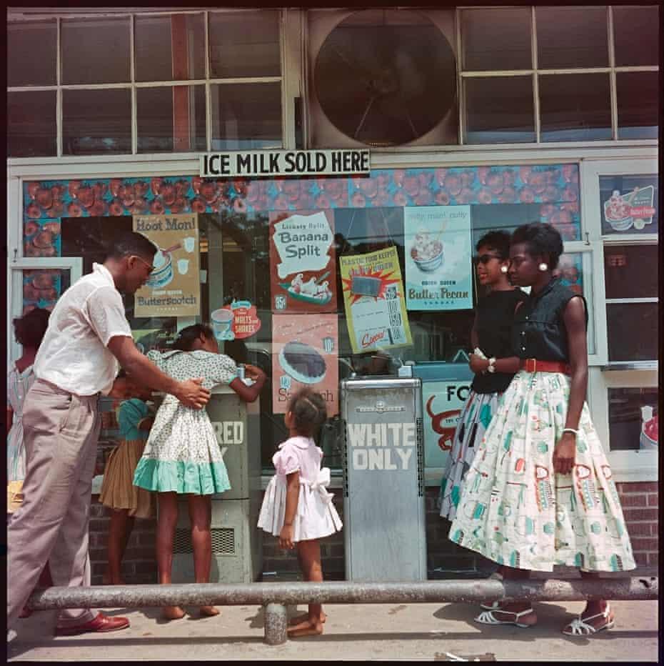 At Segregation Drinking Fountain, Mobile, Alabama, 1956.