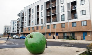 The Orchard Village housing estate in Rainham, east London.