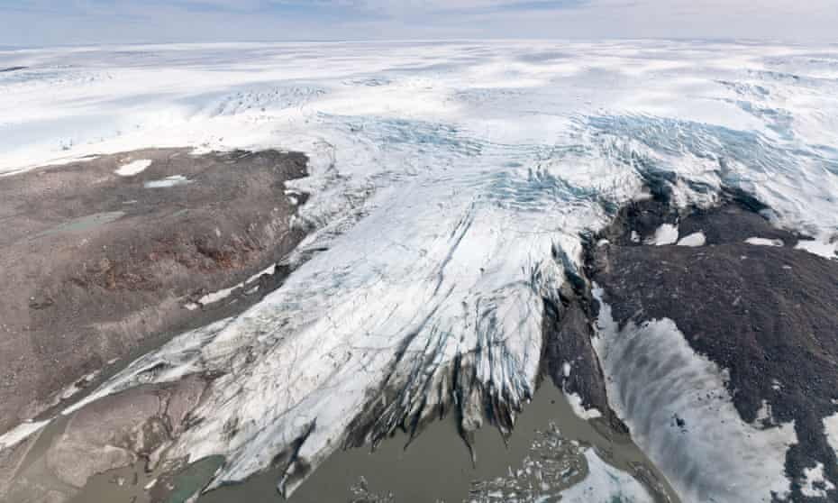 The Greenland ice sheet south of Ilulissat
