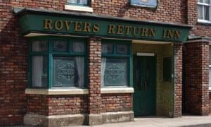 The Rovers Return on the Coronation Street set