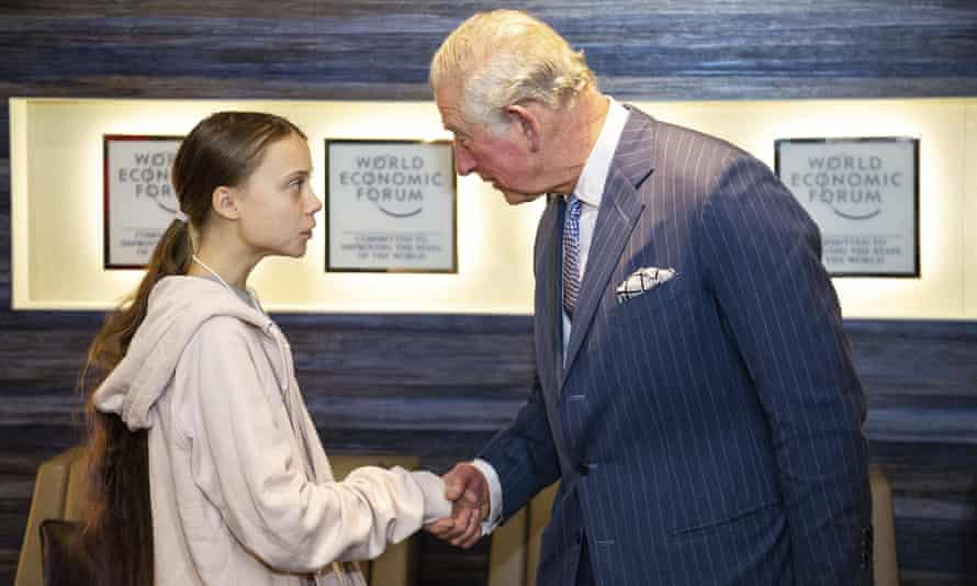 Greta Thunberg and Prince Charles