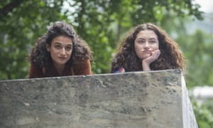 Jenny Slate, left, and Abby Quinn in a scene from Gillian Robespierre's Landline.