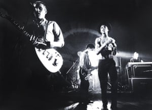 Ranking Roger, second from right, on stage with the Beat in Herenthout, Belgium, 1980.