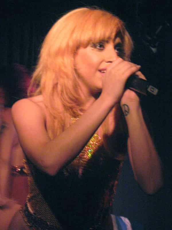 Lady Gaga performing at the Slipper Room in New York in 2007.