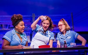 Marisha Wallace, Katharine McPhee and Laura Baldwin in Waitress at the Adelphi.