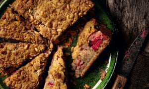 Photograph of Yotam Ottolenghi's rhubarb, gin and juniper cake