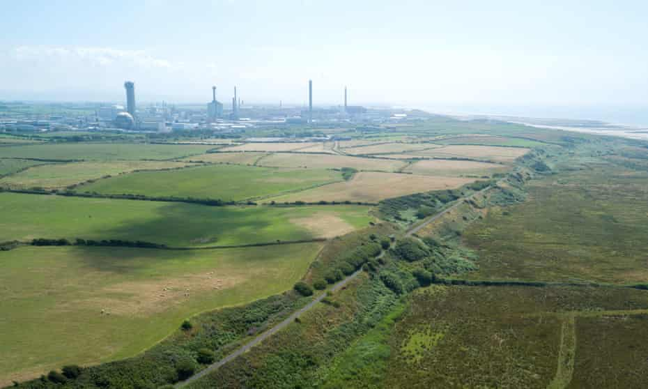 The proposed site of the Moorside nuclear power station in Cumbria.