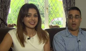 Sandeep and Reena Mander, who have been refused the right to adopt a white child.